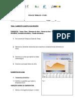 FICHA DE TRABALHO elementos e fatores do clima