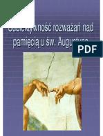 Subiektywnosc rozwazan nad pamiecia u Augustyna