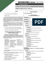 CÓDIGO PROCESAL PENAL (original) - DECRETO LEGISLATIVO N° 957 El Peruano 29 JUL 2004 (81 págs.)