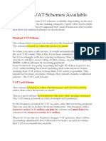 Different VAT Schemes Available