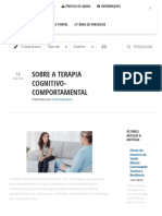 Sobre a Terapia Cognitivo-Comportamental - Portal da Saúde Mental