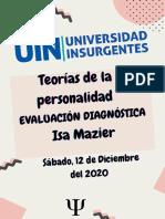 EVALUACIÓN DIAGNÓSTICA Isa Mazier