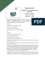 Thayer Vietnam's New Leadership - Two Scenarios