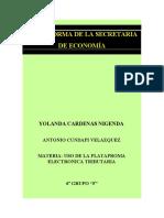 PLATAFORMA DE LA SECRETARIA DE ECONOMÍA