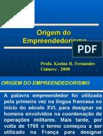1- Origem do Empreendedorismo