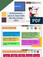 Cartilla informativa para la planificación curricular 2021