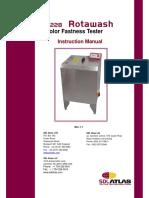 Color fastness M228B&C Rotawash Manual (Rev1.1)