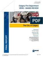CALGARY FIRE DEPARTMENT ZEROBASED REVIEW and ADMI Attach 3 Calgary Fire Department ZeroBased Review Report From Behr Energy Services Ltd