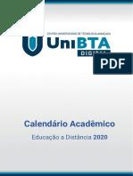 CALENDÁRIO ACADÊMICO EAD UniBTA 2020
