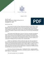 Letter to Secretary Azar 2021