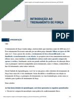 INTRODUÇÃO AO TREINAMENTO DE FORÇA