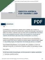 GINÁSTICA AERÓBICA, STEP-TRAINING E JUMP