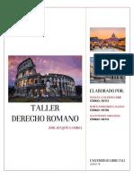 TALLER DERECHO ROMANO