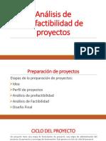 3. Análisis de prefactibilidad de proyectos