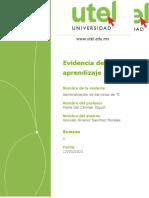 Evidencia Administración de servicios de TI 2P