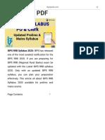IBPS RRB Syllabus 2020 for Prelims & Mains, Download PDF
