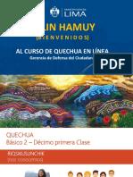 PPT - 11er Clase Quechua