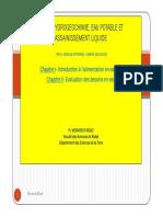 Fsc Cours Hydrogeochimie Eau Potable Et Assainissement Liquide m Moad 2015