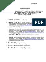 Anexa 4 Calendar Concurs Rutieră Ipjvn