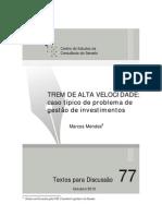 Consultoria do SF - Marcos Mendes - TAV