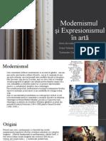 Modernismul si expresionismul in arta