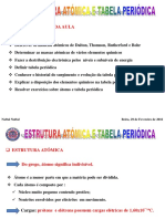 Palestra I-Estrutura Atomica-Tabela Periodica-Quimica Geral-2016