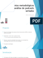 Apontamentos metodológicos para a análise de podcasts seriados