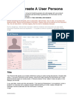 How To- Create A User Persona