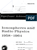 Significant Achievements in Ionospheres and Radio Physics, 1958 - 1964