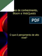 Taxonomia de bloom e Webquests