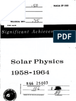 Significant Achievements in Solar Physics 1958-1964