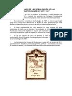 ANIVERSARIO DE LA PROMULGACIÓN DE LAS CONSTITUCIONES DE 1857 Y 1917