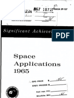 Significant Achievements in Space Applications 1965