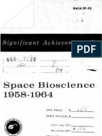 Significant Achievements in Space Bioscience 1958-1964