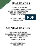 MANUALIDADES BILLETERAS