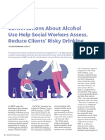 Conversations About Alcohol Use Help Social Workers Assess, Reduce Clients' Risky Drinking