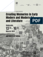 Ilijevski A - Architecture, Holocaust and Memory - Abstract