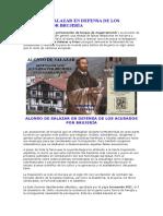 Alonso de Salazar en Defensa de Los Acusados Por Brujería