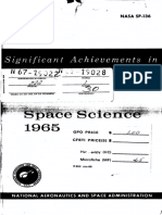 Significant Achievements in Space Science 1965