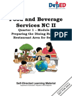 Q1 TLE Food and Beverage Services NC II Module 1