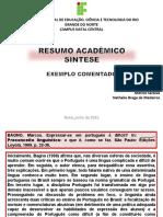 EXEMPLO PARA ANALISE Resumo academico