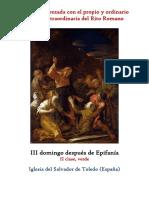 III Domingo Después de Epifanía. Propio y Ordinario de la Santa Misa