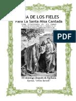 III Domingo Después de Epifanía. Guía de los fieles para la santa misa cantada. Kyrial Orbis Factor