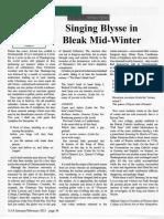 Singing Blysse in Bleak Mid-Winter