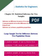 StatInferenceForTwoSampleChap10.ppt