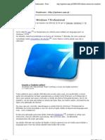 Alterar idioma do Windows 7 Professional