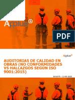 AUDITORIAS DE CALIDAD EN OBRAS NO CONFORMIDADES VS HALLAZGOS SEGÚN ISO 9001 2015