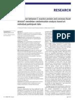 Association between C reactive protein and coronary heart disease
