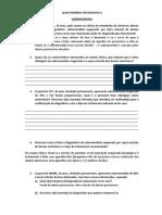 QUESTIONÁRIO ORTODONTIA II - COM RESPOSTAS