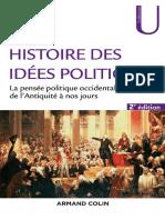 Histoire des idées politiques la pensée politique occidentale de l'Antiquité à nos jours by Nay, Olivier